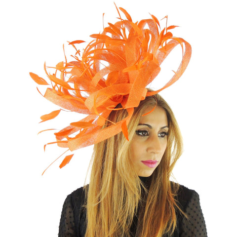 XL Ostrich  Fascinator Hat