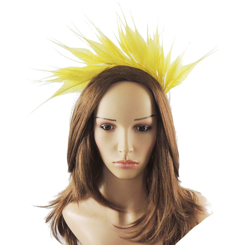 Imogen Feather Crown Fascinator