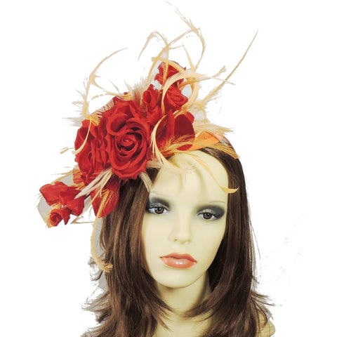 Jasmine Silk & Feather Fascinator Hat