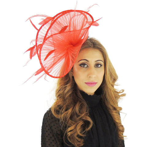 Afriel Crin & Feather Fascinator - Hats By Cressida
