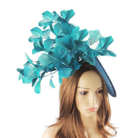 Abigail Feather Ascot Fascinator Hat