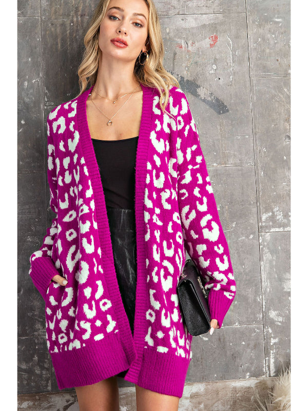Pop of Color Leopard Cardigan