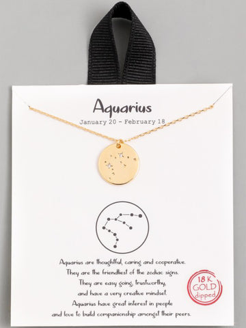 Gold Dipped Zodiac Necklace