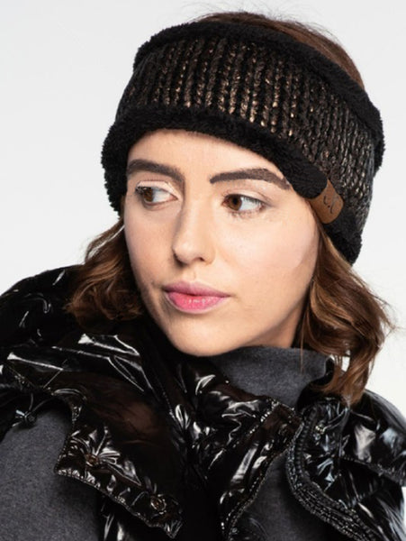 CC Metallic Sherpa Lined Headband