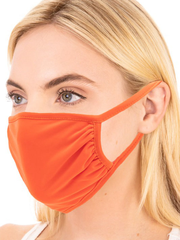 Orange Face Mask Pocket