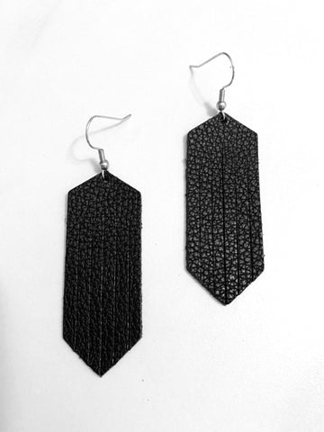 Fringed Leather Earring