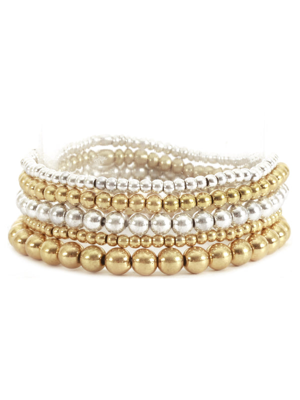 Gold & Silver Mix Bracelet Set of 5