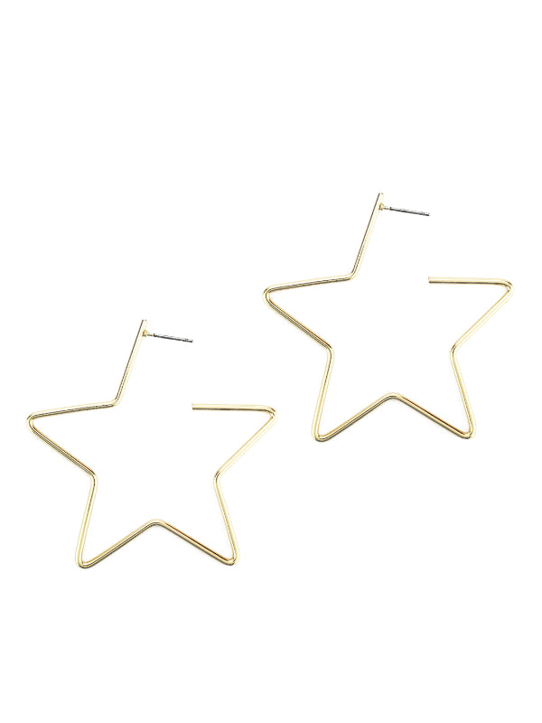 Star Shaped Hoop Earring