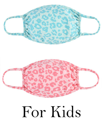 Kids Pastel Leopard Face Mask