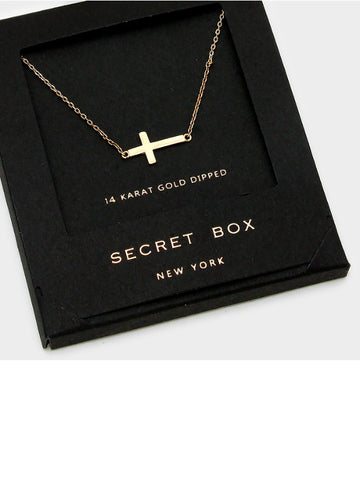 Secret Box Cross Necklace