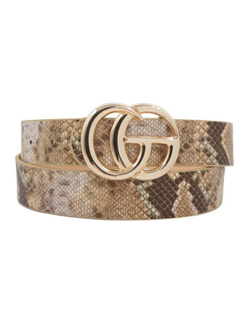 Adjustable Snake Skin Belt