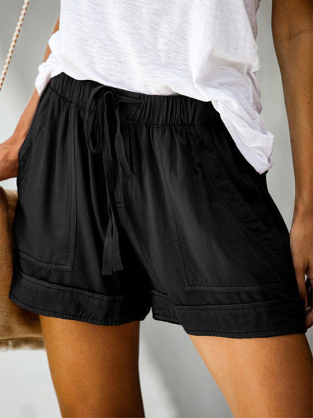So Simple Drawstring Shorts