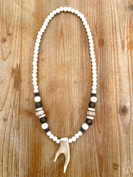 The Hartley Antler Pendant Necklace