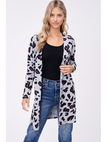 The Long Leopard Cardigan