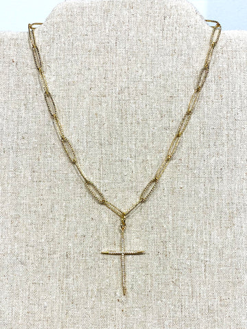 The Nix Cross Necklace
