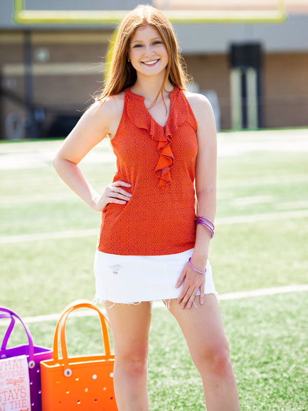 The Gameday Ruffle Tank