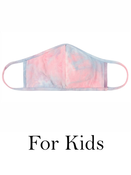 Kids Pink Tie Dye Face Mask