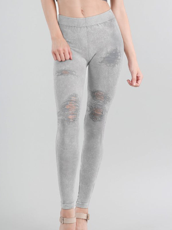 Niki Biki Vintage Modal Destroyed Leggings