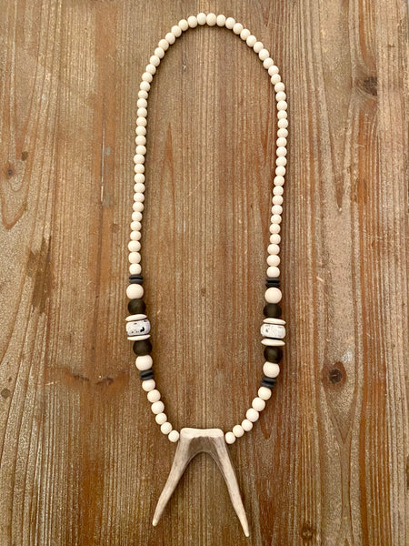 The Tegan Antler Pendant Necklace