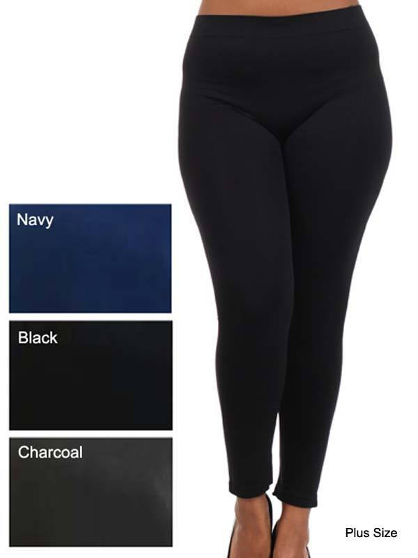 Plus Size - Plus Size Seamless Leggings - 5 Colors