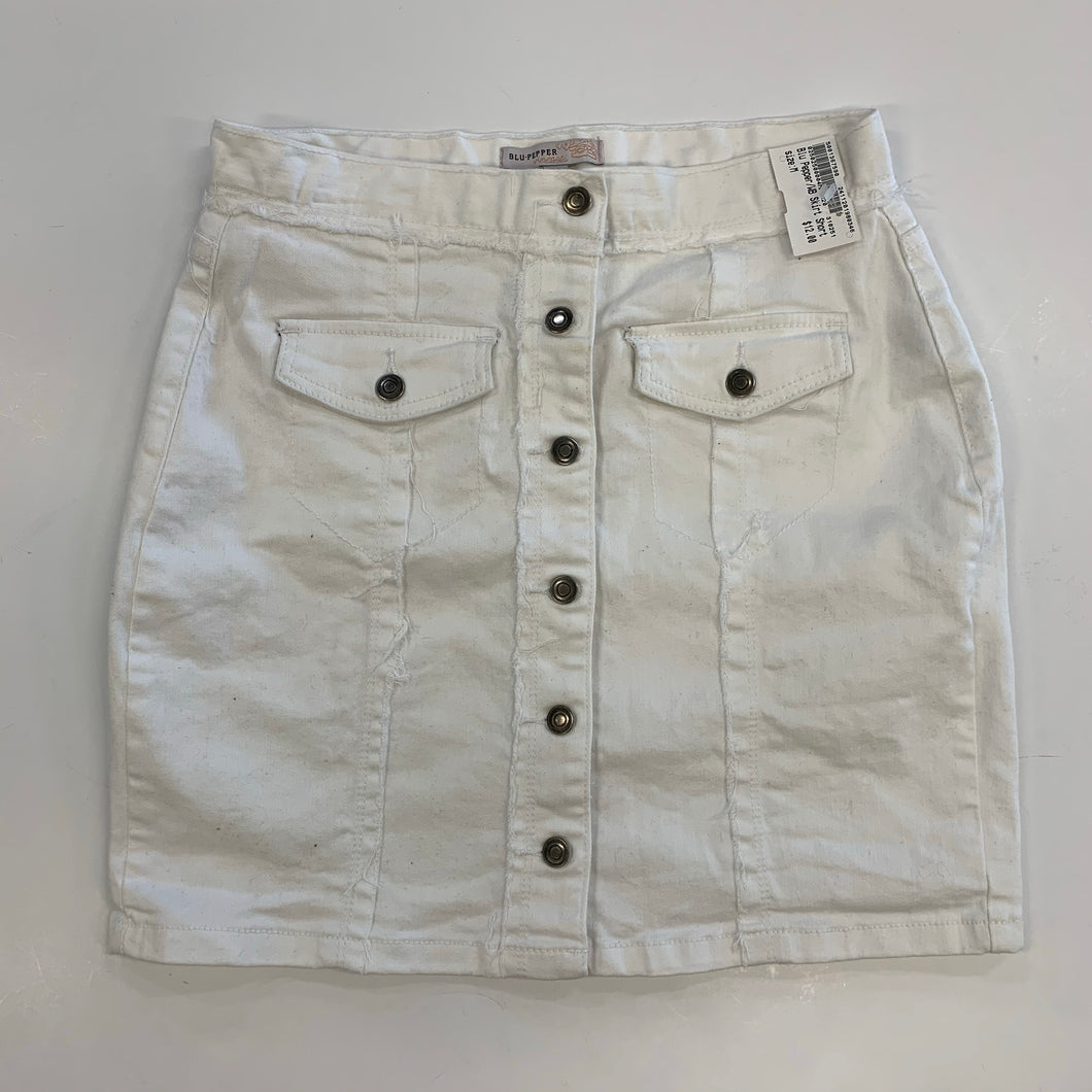 Blu pepper vintage white denim skirt size M