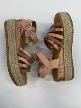Load image into Gallery viewer, Bamboo espadrille platform sandal 6