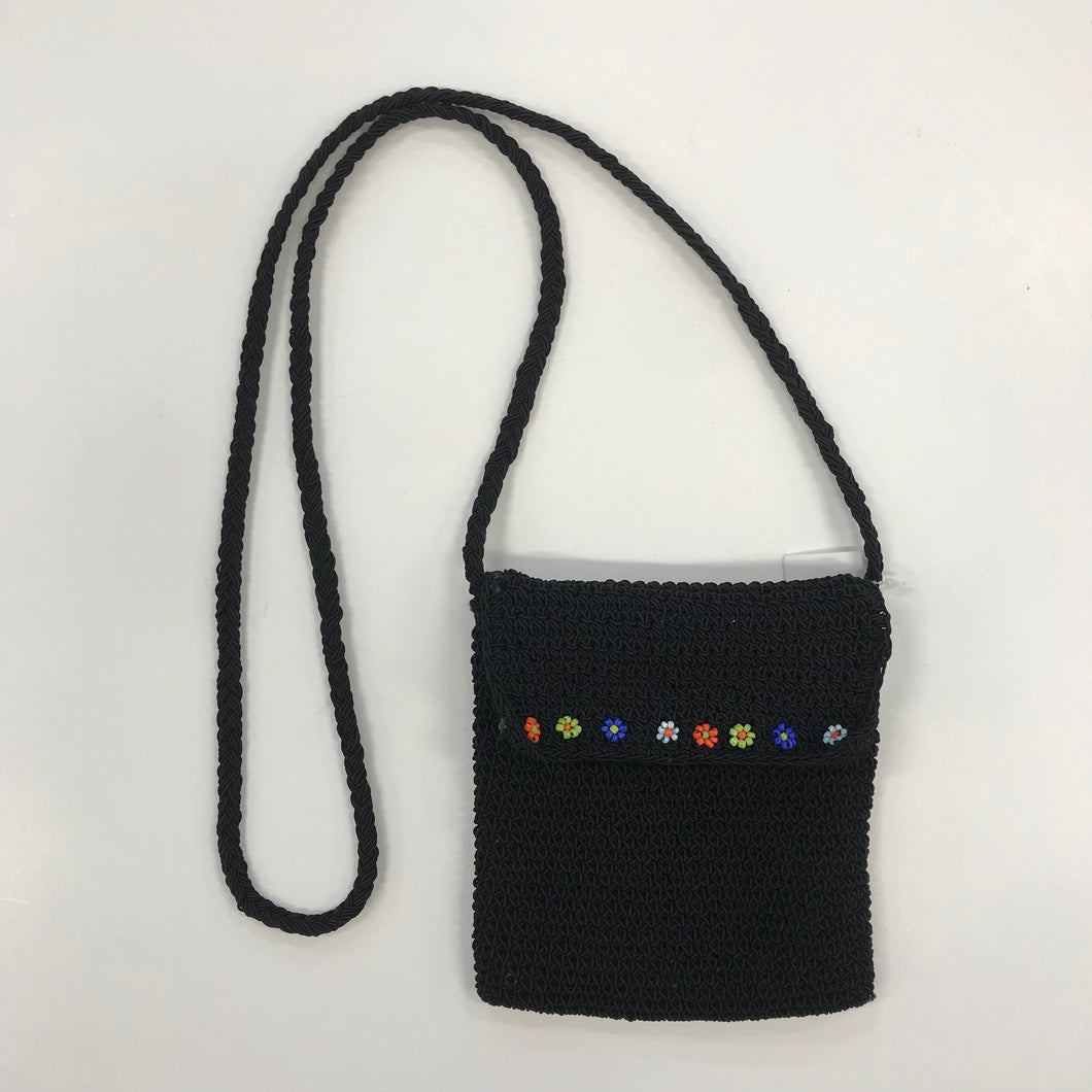 Mini Beaded Black Purse
