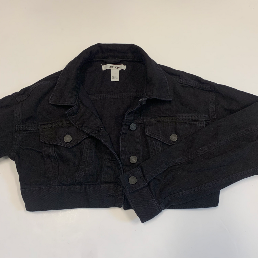 Cropped Refuge Denim Outerwear Size Small