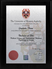 Load image into Gallery viewer, UWA Plaque Black Lacquer