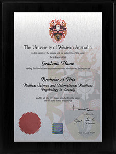 UWA Plaque Black Lacquer