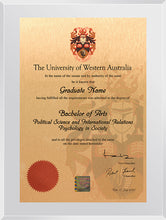 Load image into Gallery viewer, UWA Plaque Clear Acrylic