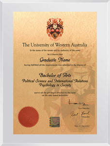UWA Plaque Clear Acrylic