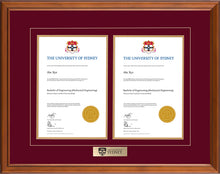 Load image into Gallery viewer, University of Sydney Frame Classic Double Degree