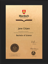 Load image into Gallery viewer, Murdoch University Plaque Black Acrylic