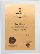 Load image into Gallery viewer, Murdoch University Plaque Clear Acrylic