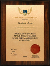 Load image into Gallery viewer, ECU University Plaque Jarrah
