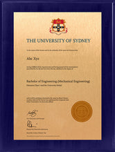 Load image into Gallery viewer, University of Sydney Plaque Sapphire