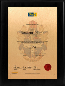 CPA Plaque Black Acrylic