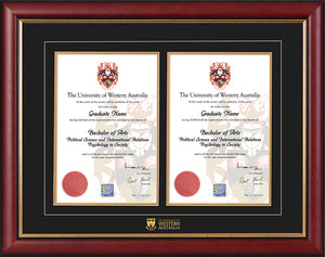 UWA Frame Mahogany Double Degree