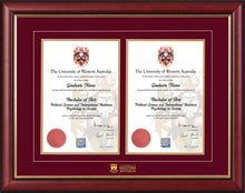 Load image into Gallery viewer, UWA Frame Mahogany Double Degree