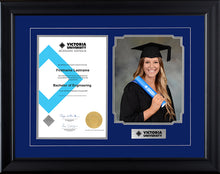 Load image into Gallery viewer, Victoria University Frame Black Regency