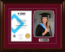 Load image into Gallery viewer, Victoria University Frame Mahogany Regency