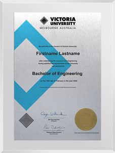 Victoria University Plaque Clear Acrylic