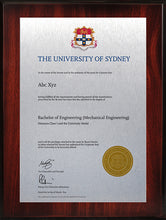 Load image into Gallery viewer, University of Sydney Plaque Rosewood