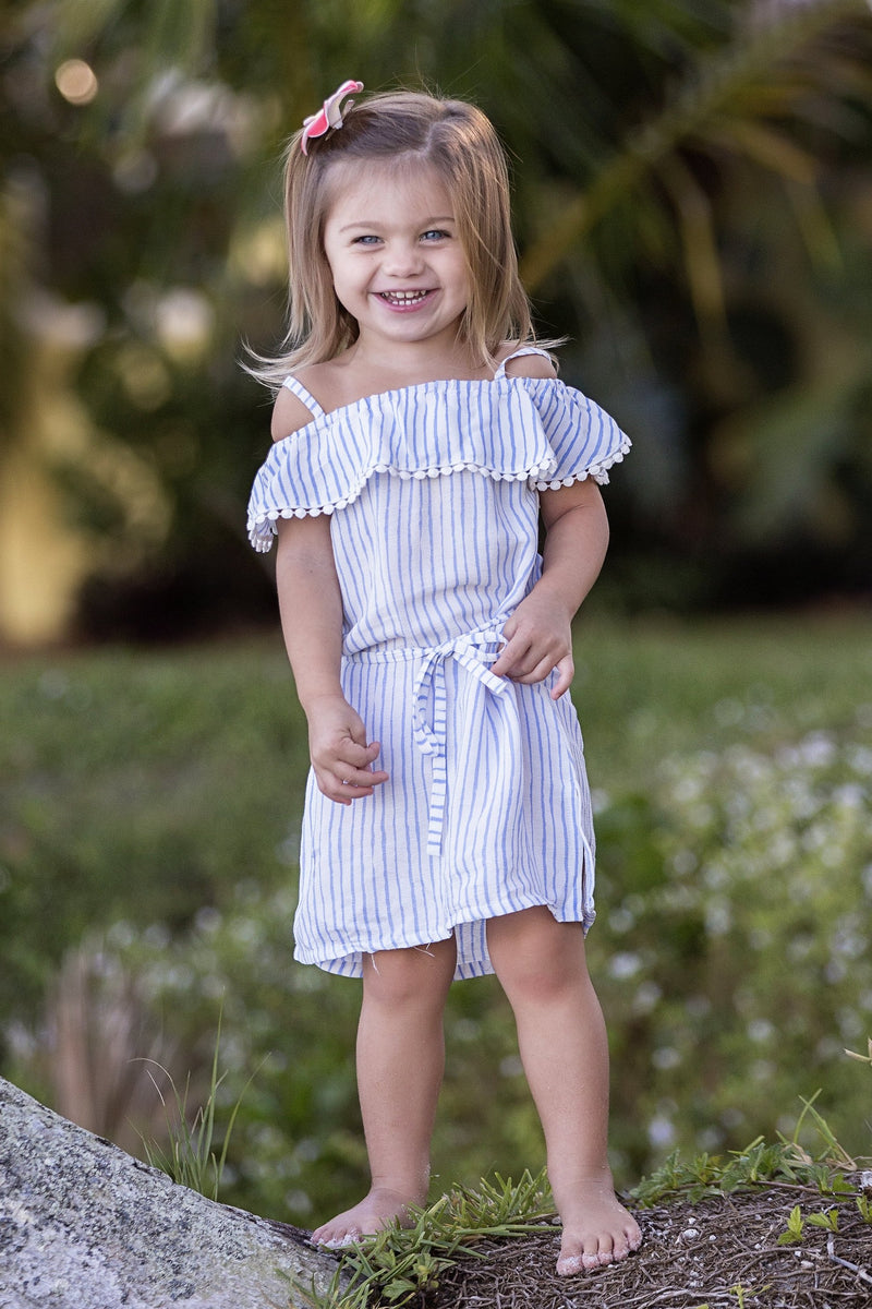 Lucy Dress / Periwinkle Stripe