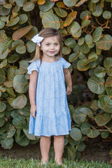 Ellie Dress / Periwinkle Palm