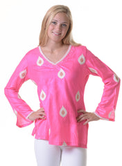 Silk Lotus Tunic / Fuchsia