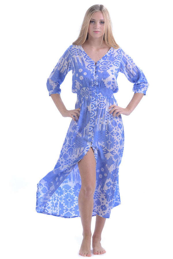 Kelsey Dress / Periwinkle Ikat