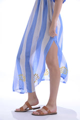 Fiji Dress / Periwinkle Stripe