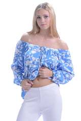 Peasant Top / Cornflower Blue